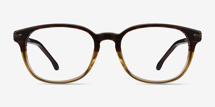 Brown Striped Nova -  Acétate Lunettes de Vue