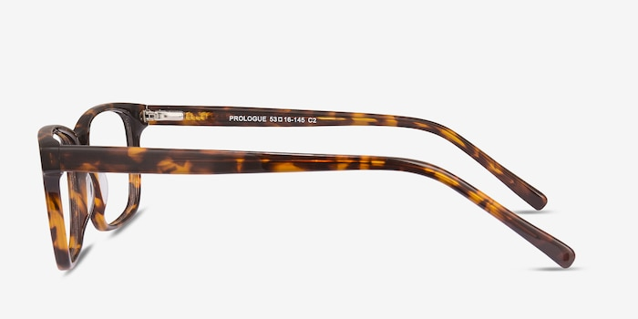 Prologue Tortoise Acetate Eyeglass Frames from EyeBuyDirect, Side View