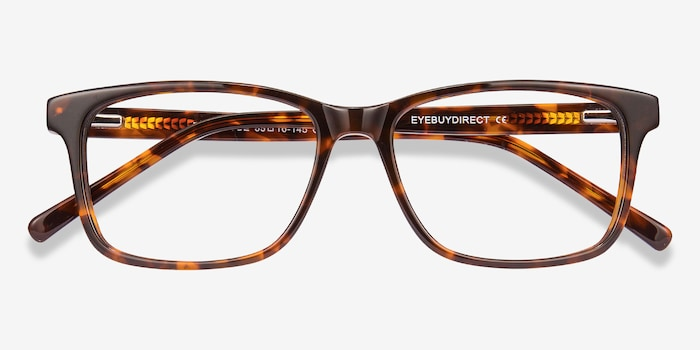 Prologue Tortoise Acetate Eyeglass Frames from EyeBuyDirect, Closed View