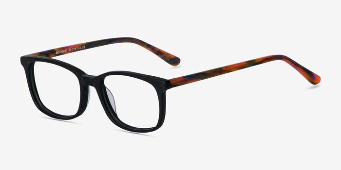 Botanist Black Acetate Eyeglass Frames from EyeBuyDirect, Angle View