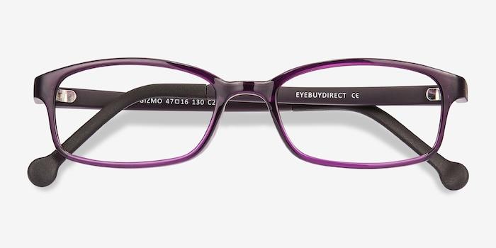 Gizmo Purple Plastic Eyeglass Frames from EyeBuyDirect, Closed View