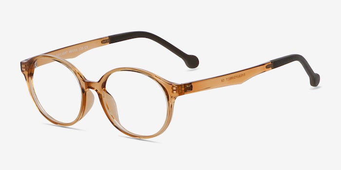 Daylight Clear Brown Plastic Eyeglass Frames from EyeBuyDirect, Angle View