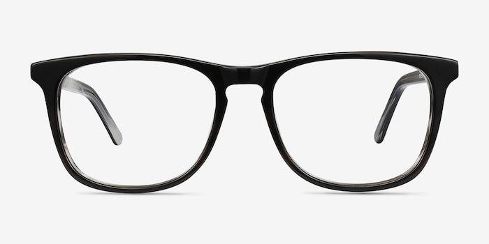 Black Gray Skyline -  Classic Acetate Eyeglasses