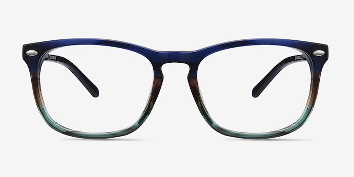 Blue Striped Costello -  Acetate Eyeglasses