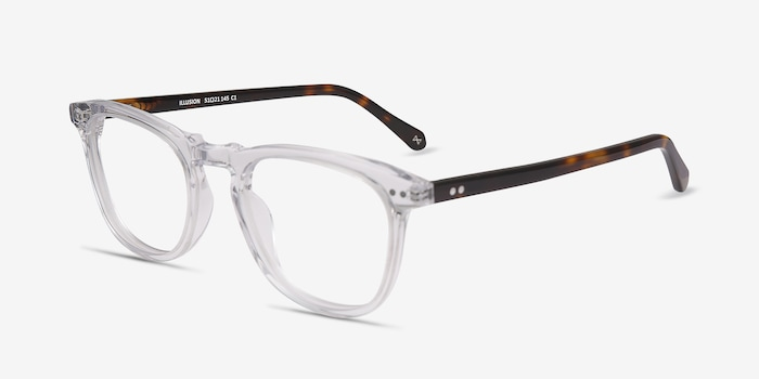 Illusion Clear Acetate Eyeglass Frames from EyeBuyDirect, Angle View