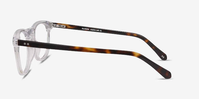 Illusion Clear Acetate Eyeglass Frames from EyeBuyDirect, Side View