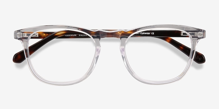 Illusion Clear Acetate Eyeglass Frames from EyeBuyDirect, Closed View