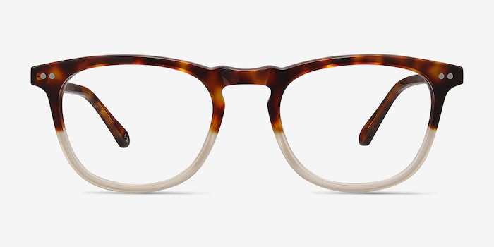 Illusion Tortoise Clear Acetate Eyeglass Frames from EyeBuyDirect, Front View
