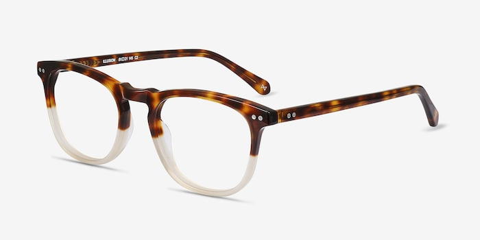 Illusion Tortoise Clear Acetate Eyeglass Frames from EyeBuyDirect, Angle View