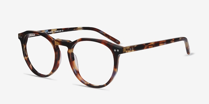 Planete Floral Acetate Eyeglass Frames from EyeBuyDirect, Angle View