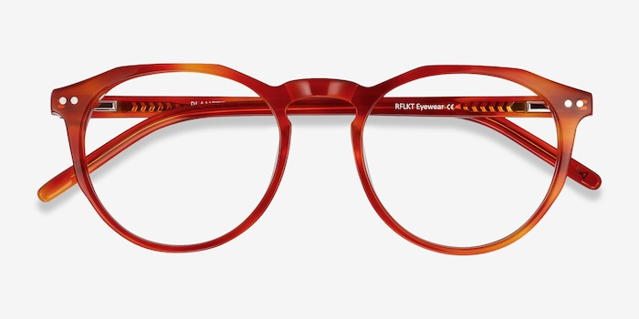 Planete Brown Tortoise Acetate Eyeglass Frames from EyeBuyDirect, Closed View