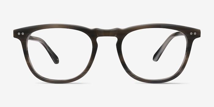 Gray Striped Illusion -  Designer Acetate Eyeglasses