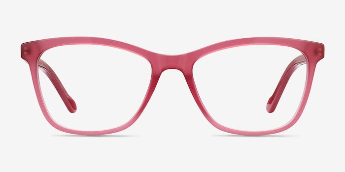 Clear Raspberry Cannes -  Acetate Eyeglasses