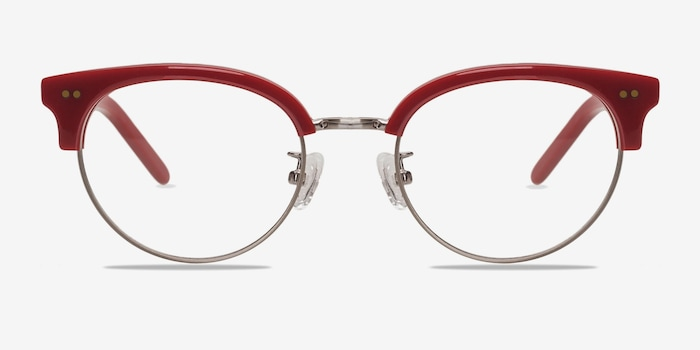 Annabel Red Acetate Eyeglass Frames from EyeBuyDirect, Front View