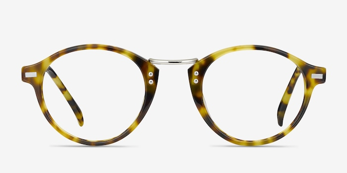 Shibuya Tortoise Acetate Eyeglass Frames from EyeBuyDirect, Front View