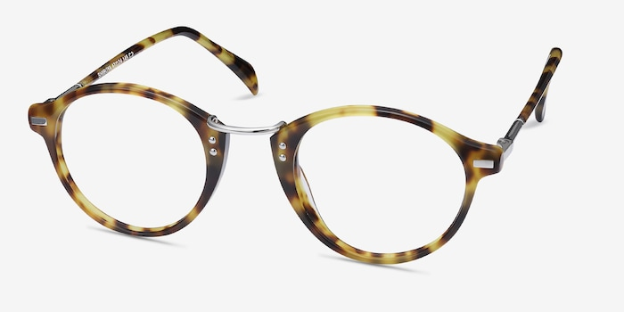 Shibuya Tortoise Acetate Eyeglass Frames from EyeBuyDirect, Angle View