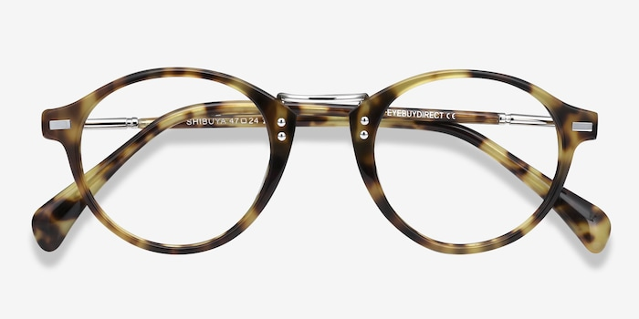 Shibuya Tortoise Acetate Eyeglass Frames from EyeBuyDirect, Closed View