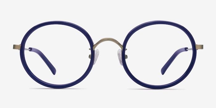 Gemini Bleu marine  Acétate Montures de Lunettes d'EyeBuyDirect, Vue de Face