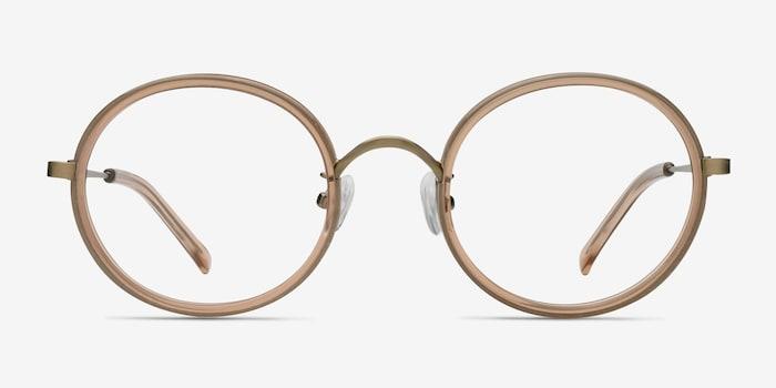 Light Brown Gemini -  Designer Acétate Lunettes de Vue