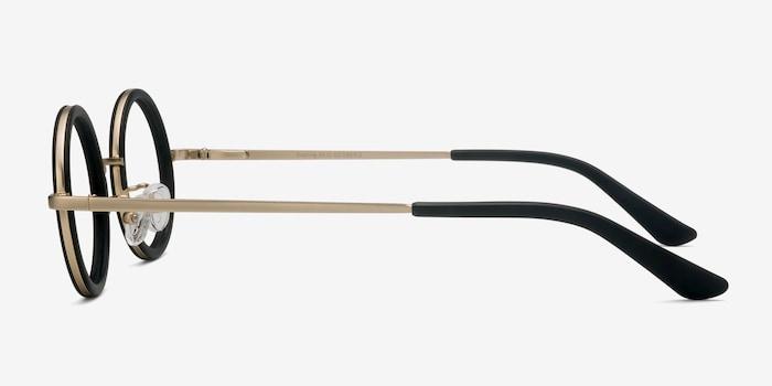 Roaring Black Acetate Eyeglass Frames from EyeBuyDirect, Side View