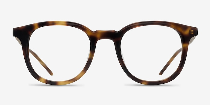 Vendome Tortoise Acetate Eyeglass Frames from EyeBuyDirect, Front View