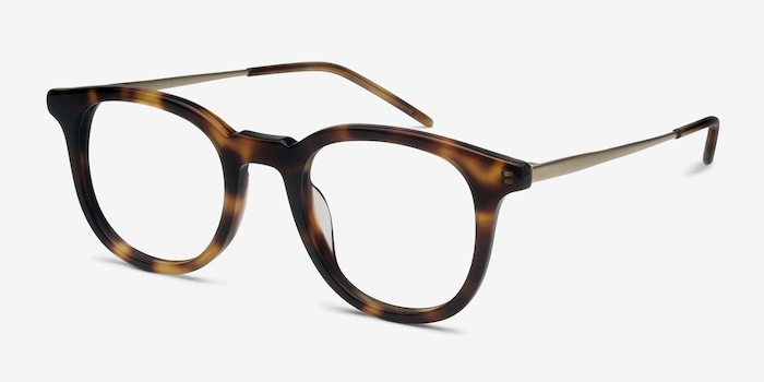 Vendome Tortoise Acetate Eyeglass Frames from EyeBuyDirect, Angle View