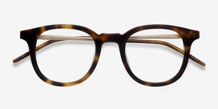Vendome Tortoise Acetate Eyeglass Frames from EyeBuyDirect, Closed View
