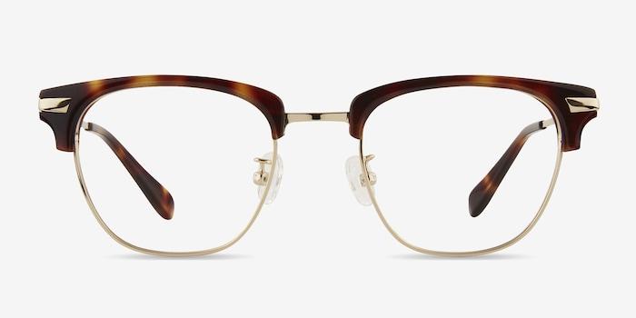 Identity Tortoise Acetate Eyeglass Frames from EyeBuyDirect, Front View