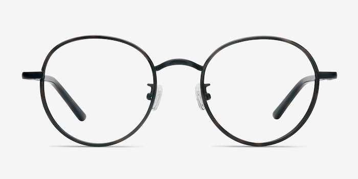Anywhere Dark Tortoise Acetate Eyeglass Frames from EyeBuyDirect, Front View
