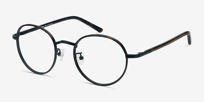 Anywhere Dark Tortoise Acetate Eyeglass Frames from EyeBuyDirect, Angle View