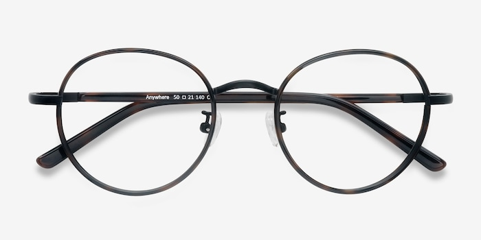 Anywhere Dark Tortoise Acetate Eyeglass Frames from EyeBuyDirect, Closed View