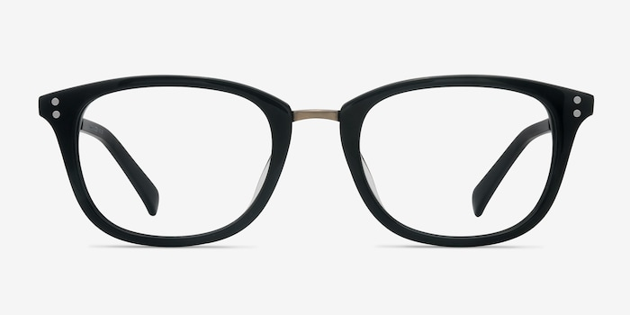 Synopsis Black Acetate Eyeglass Frames from EyeBuyDirect, Front View