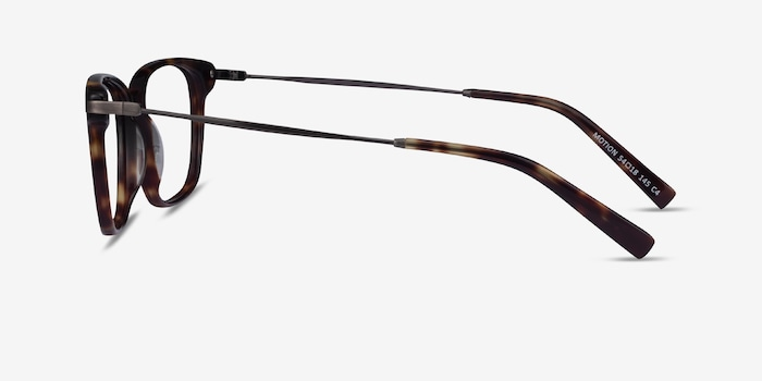 Motion Tortoise Acetate Eyeglass Frames from EyeBuyDirect, Side View