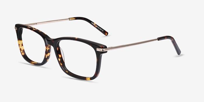 Phase Tortoise Acetate Eyeglass Frames from EyeBuyDirect, Angle View