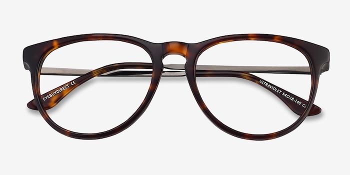 Ultraviolet Tortoise Acetate Eyeglass Frames from EyeBuyDirect, Closed View