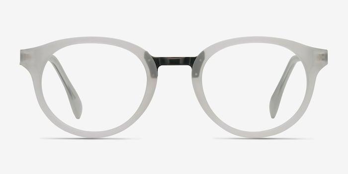 Aisu Matte White Métal Montures de Lunettes d'EyeBuyDirect, Vue de Face