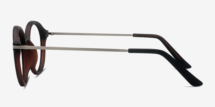 Juno Matte Brown Metal Eyeglass Frames from EyeBuyDirect, Side View