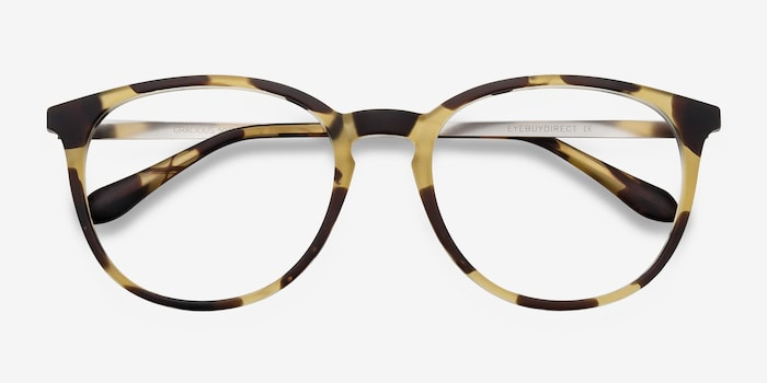 Gracious Light Tortoise Metal Eyeglass Frames from EyeBuyDirect, Closed View