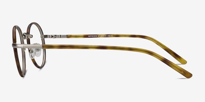 Anywhere Tortoise Acetate Eyeglass Frames from EyeBuyDirect, Side View