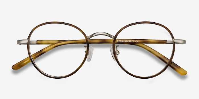 Anywhere Tortoise Acetate Eyeglass Frames from EyeBuyDirect, Closed View