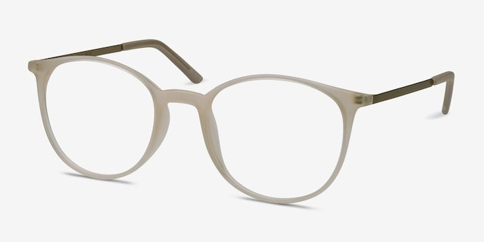 Tangent Clear Metal Eyeglass Frames from EyeBuyDirect, Angle View