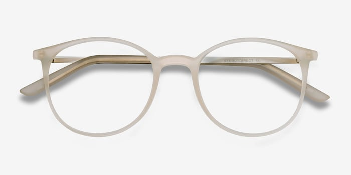 Tangent Clear Metal Eyeglass Frames from EyeBuyDirect, Closed View