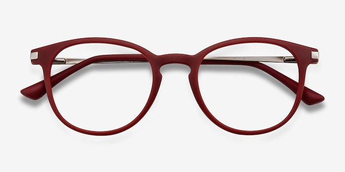 Mirando Raspberry Metal Eyeglass Frames from EyeBuyDirect, Closed View