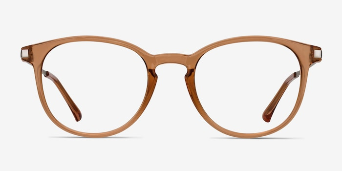 Light Brown Mirando -  Metal Eyeglasses