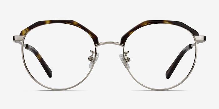 Festival Tortoise Acetate Eyeglass Frames from EyeBuyDirect, Front View