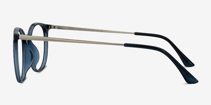 Marilou Clear Cobalt Metal Eyeglass Frames from EyeBuyDirect, Side View