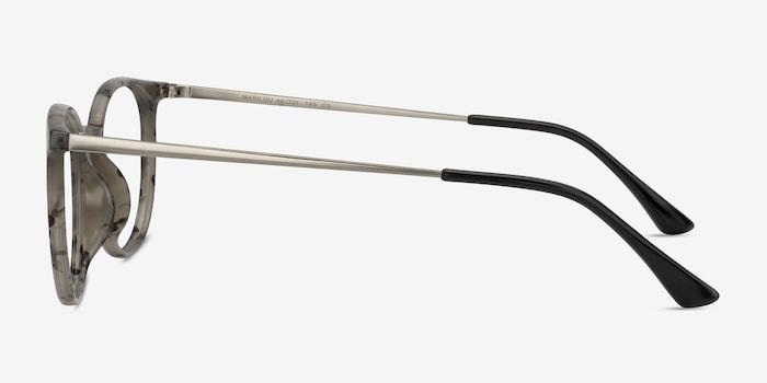 Marilou Marble Slate Metal Eyeglass Frames from EyeBuyDirect, Side View