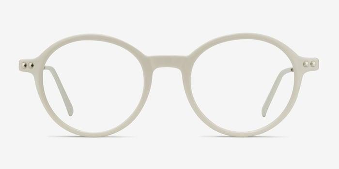 Blanc Hijinks -  Métal Lunettes de Vue