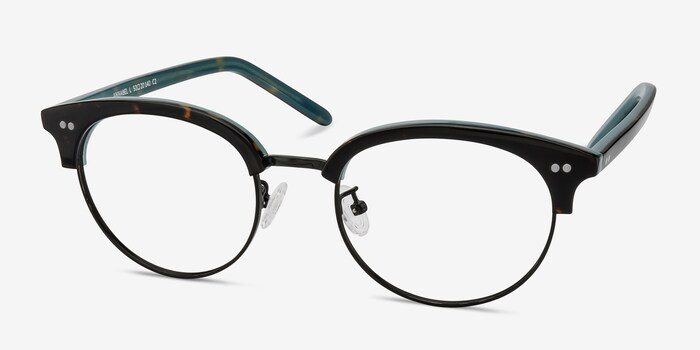 Annabel Tortoise Acetate Eyeglass Frames from EyeBuyDirect, Angle View
