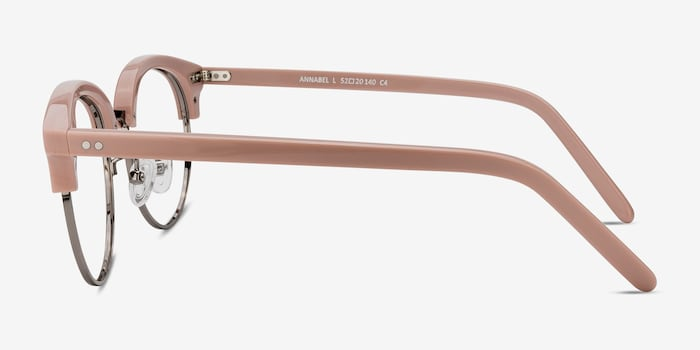 Annabel Pink Acetate Eyeglass Frames from EyeBuyDirect, Side View